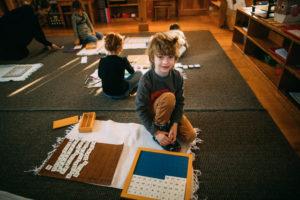 Montessori classroom work